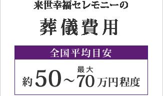 葬儀費用 約50~70万円